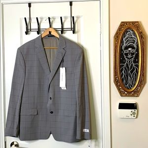 NWT Calvin Klein Gray Blazer 48R